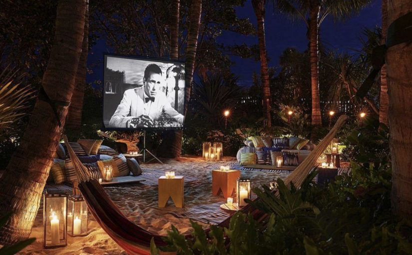 How to DIY an Outdoor Movie Theater In Under Two Hours